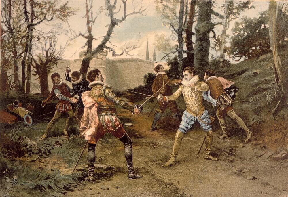 Дуэль миньонов 27 апреля 1578 г.