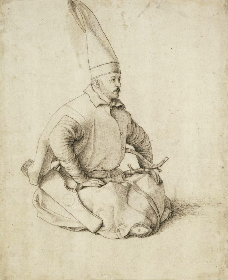 Джентиле Беллини «Янычарский офицер» Рисунок конца XV века