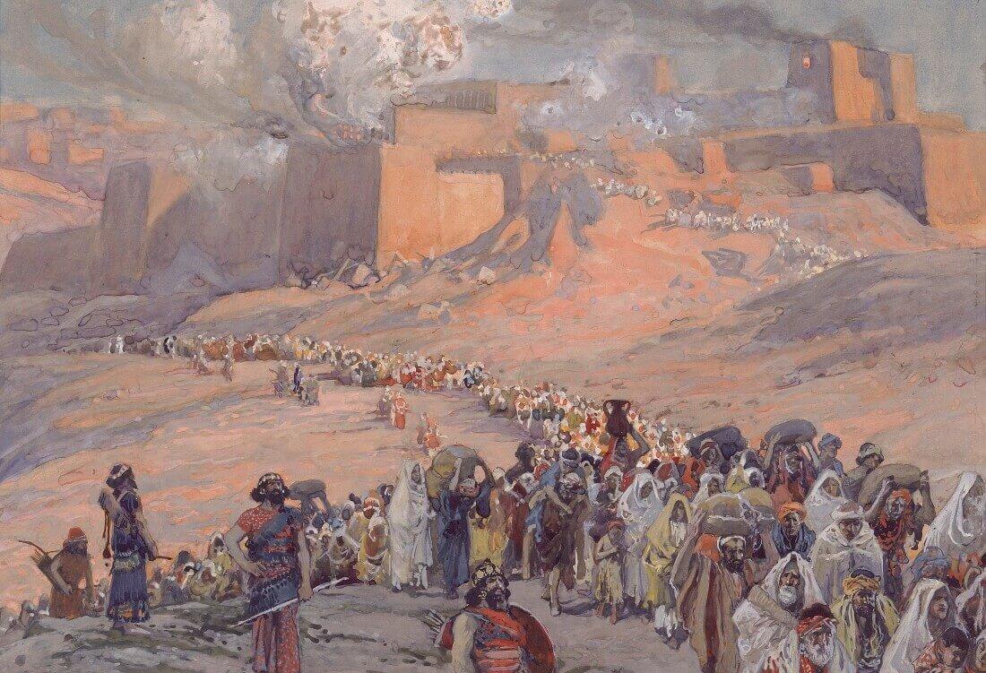 Джеймс Тиссо «Бегство пленников в период между 586 и 539 годами до н. э.»