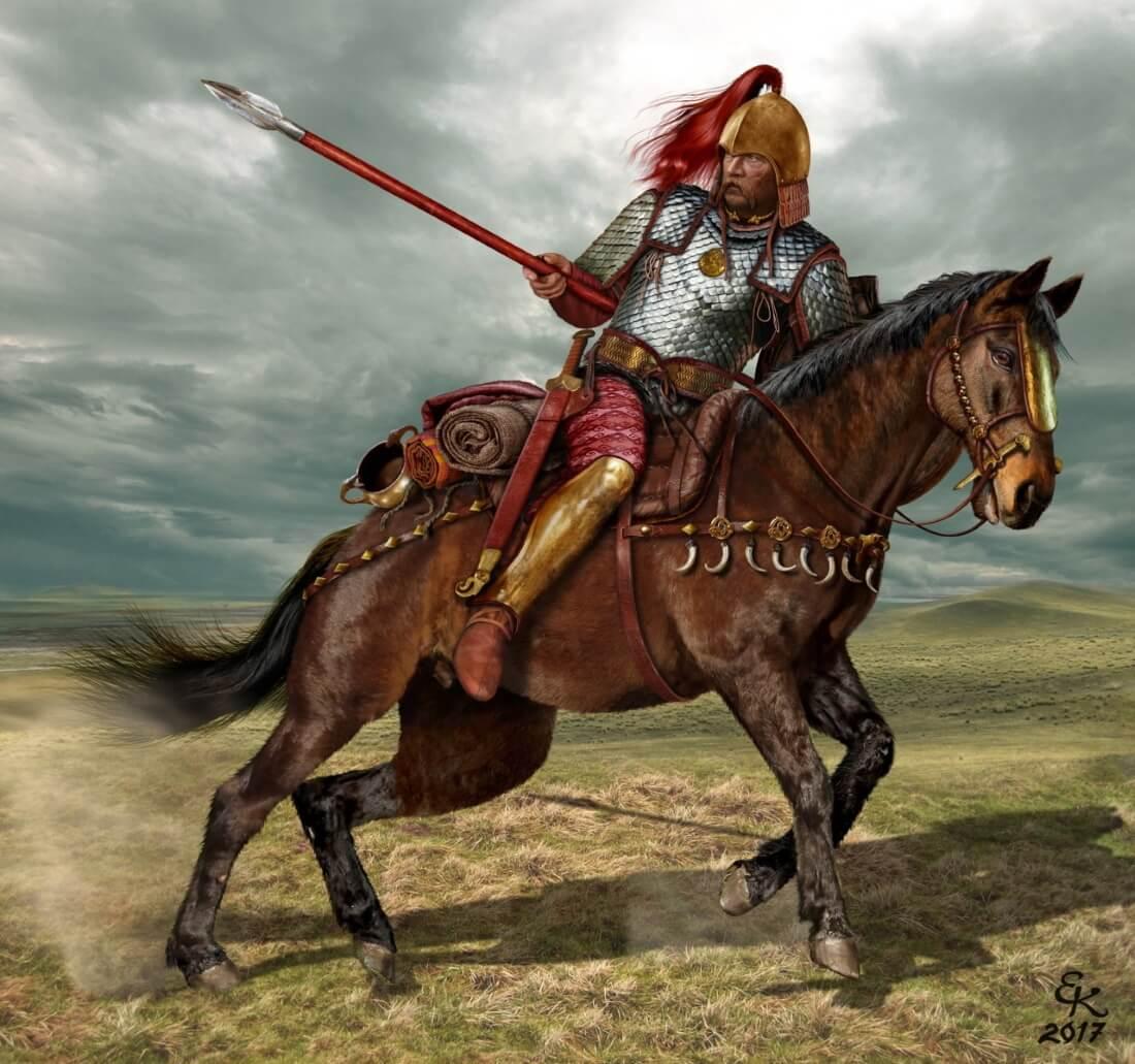 Евгений Край «Тяжеловооруженный скифский воин VII - VI век до н.э.»