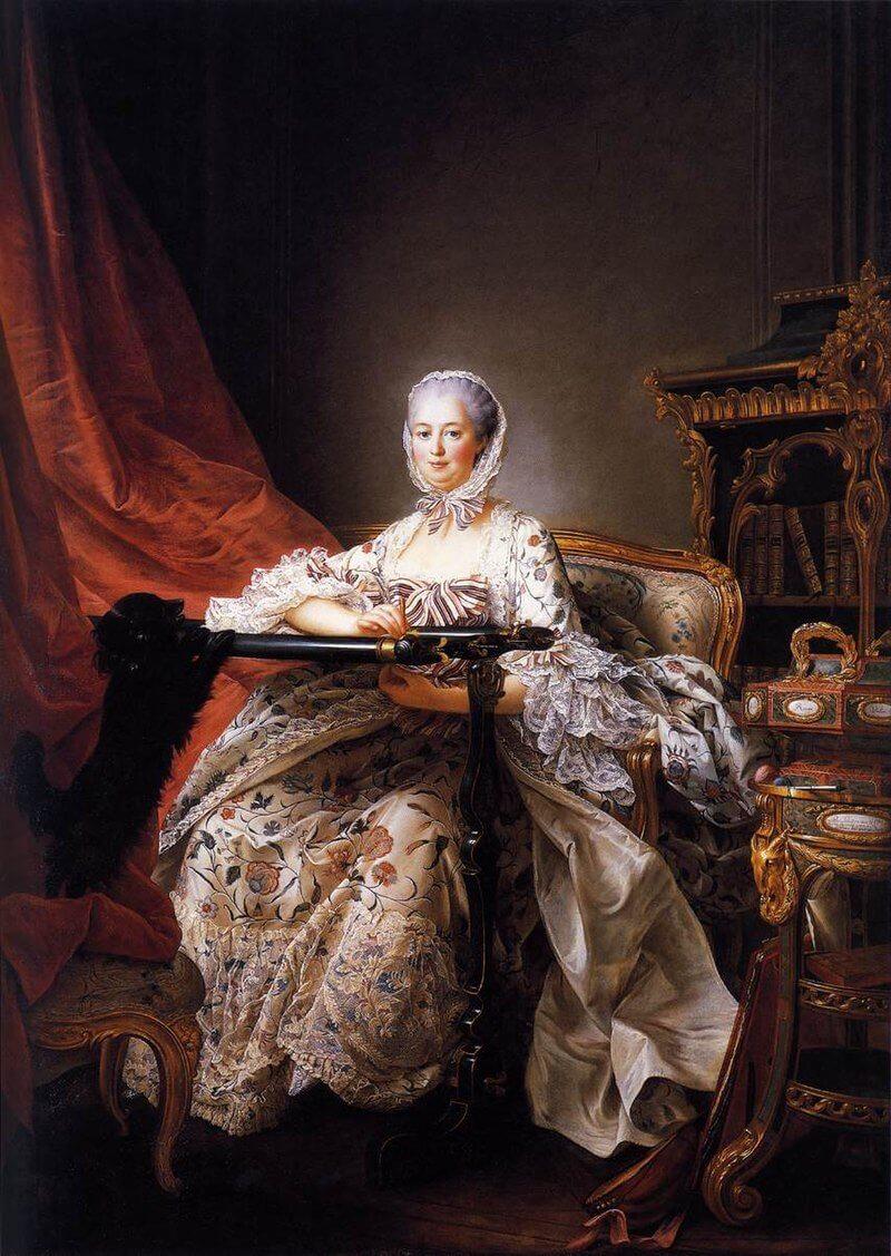 Франсуа-Юбер Друэ «Мадам Помпадур за вышивкой». Один из последних прижизненных портретов