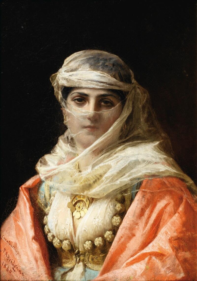 Фредерик-Артур Бриджмен «Молодая женщнина», не является портретом Нефисе-хатун