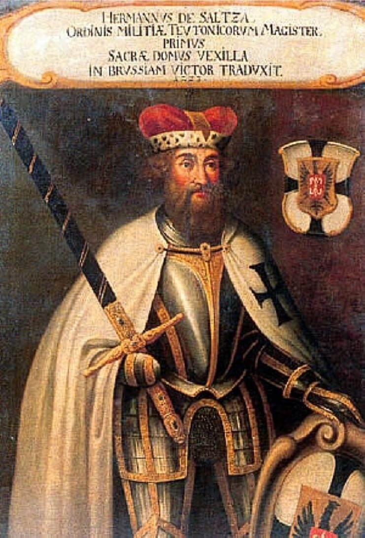 Герман фон Зальца — великий магистр Тевтонского ордена с 1209 года.