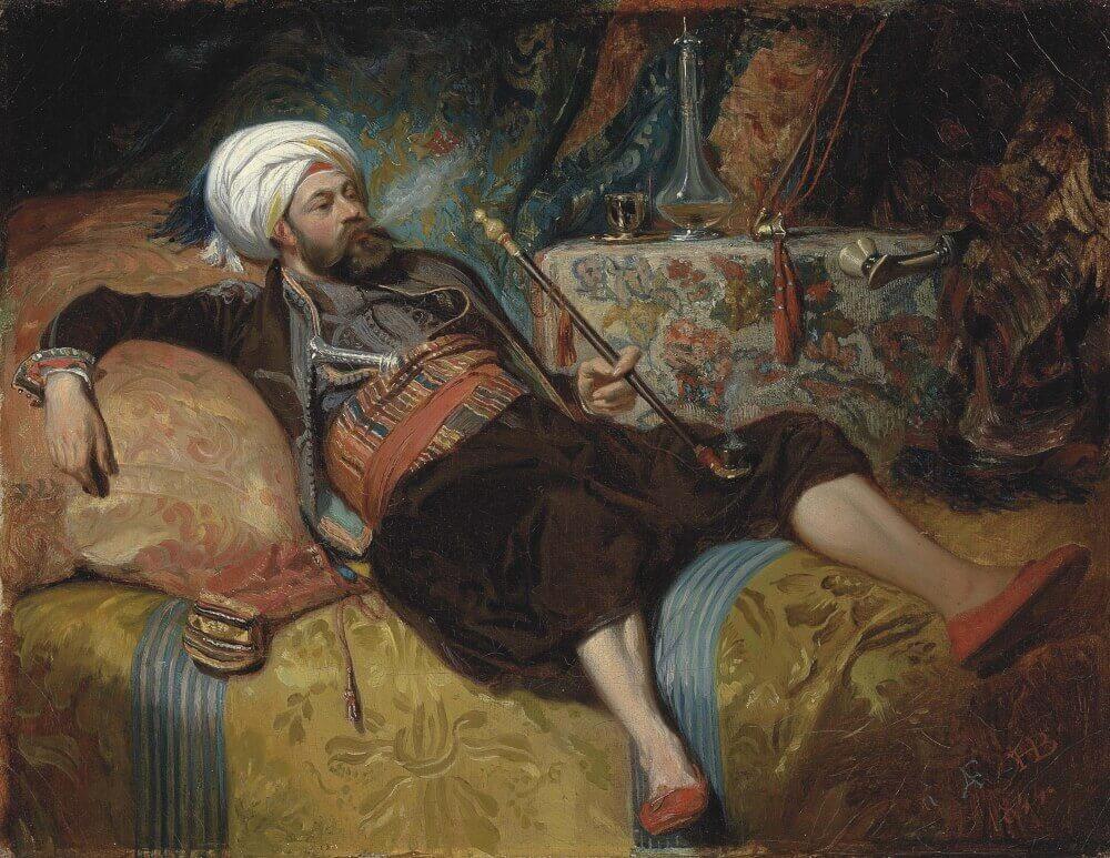 Художник картины Анри Шарль Антуан Барон (картина не является изображением Алаэддина)