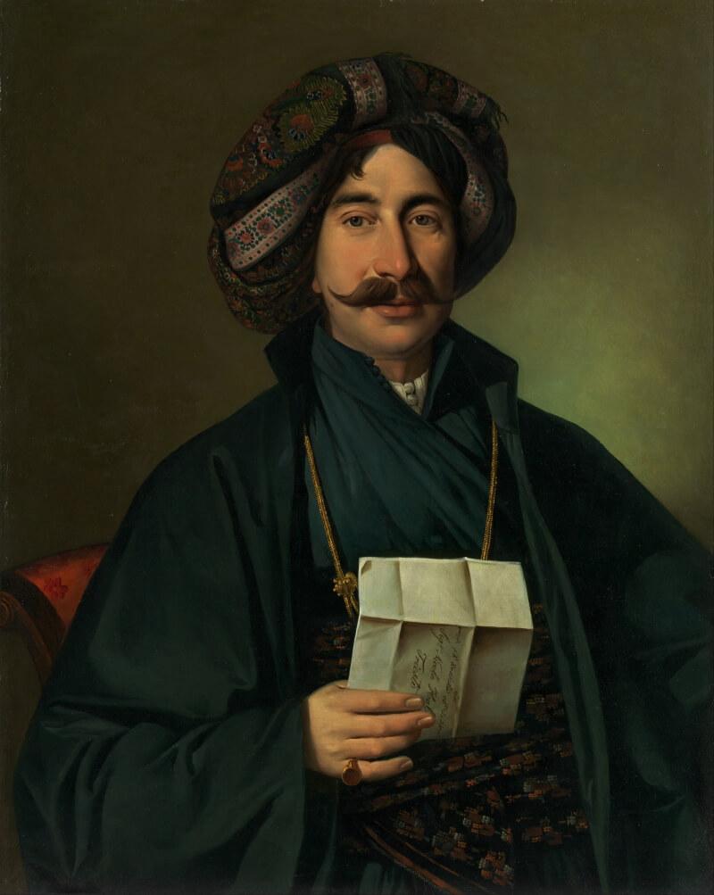 Иосип Томинц «Мужчина в Оттоманском платье», не является портретом Алаэддина