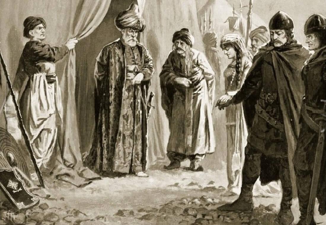 John Harris Valda «Царь Шишман привозит свою сестру султану Мураду I»
