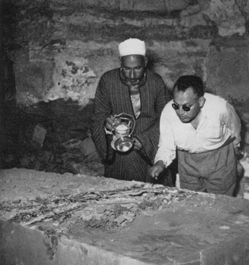Мухаммед Закария Гонейм на раскопках