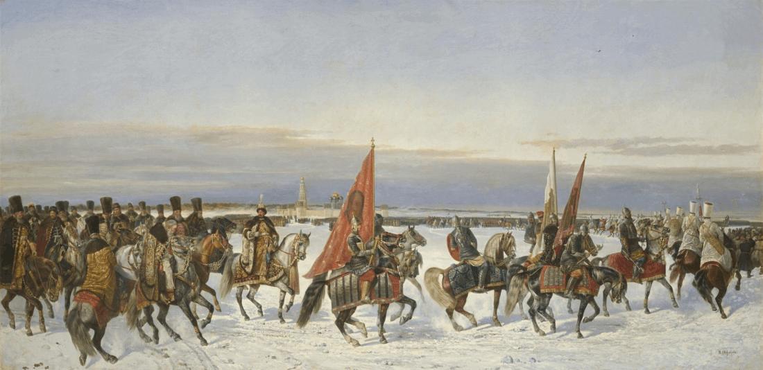 Н. Е. Сверчков «Выезд царя Алексея Михайловича на смотр войск в 1664 году»