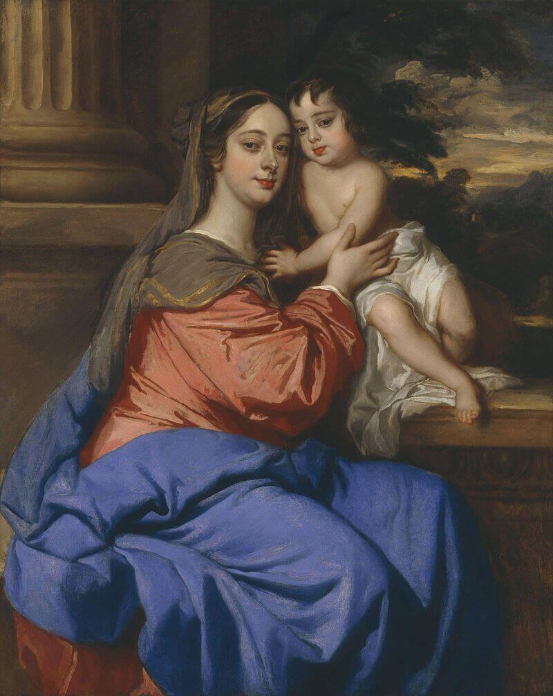 Питер Лили «Барбара Палмер, герцогиня Кливлендская с сыном Чарльзом Фицроем»
