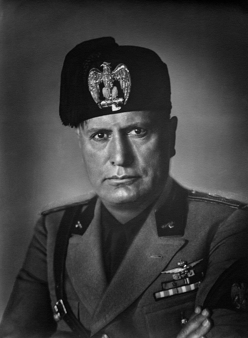Портрет Бенито Муссолини, 1937-1940 года.