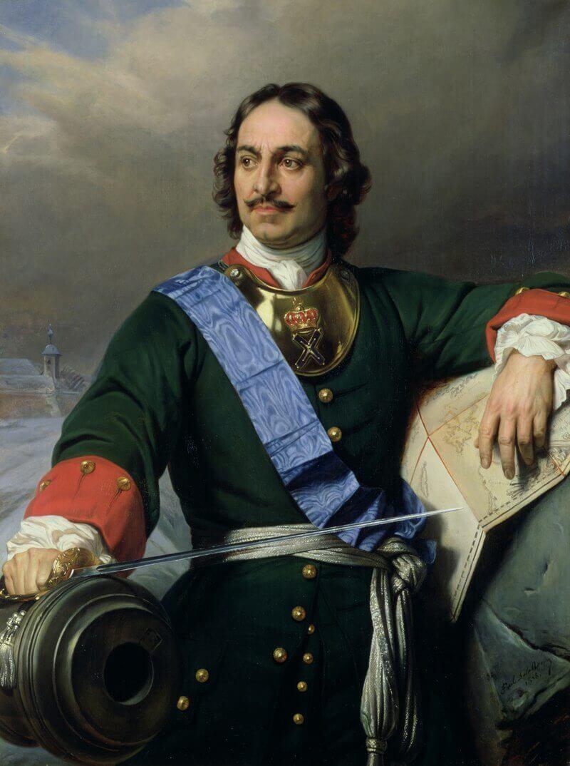 Романтизированный портрет Петра I Поль Деларош