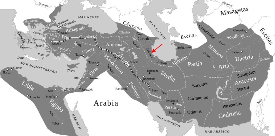 Сатрапия Кадусиев при Ахеменидах / ru.wikipedia.org