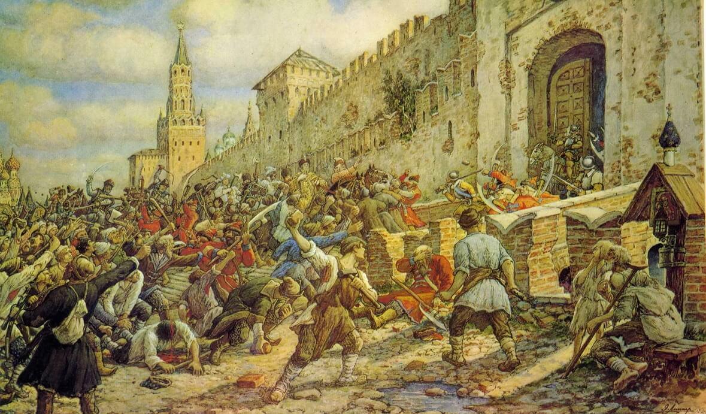 Худ. Лисснер Э. «Соляной бунт в Москве, 1648 год»