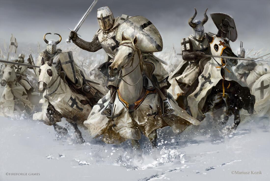 Тевтонский орден, Битва на Чудском озере / © Mariusz Kozik / lacedemon.artstation.com