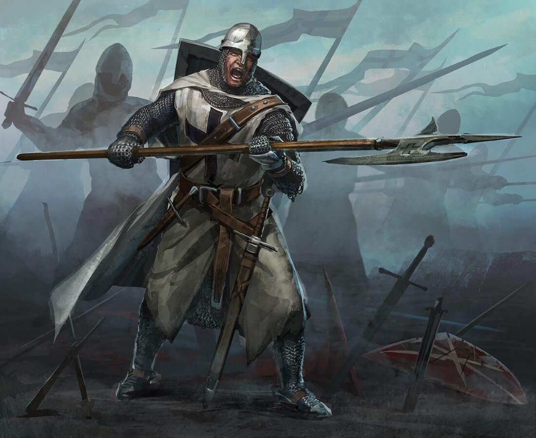 Тевтонский рыцарь / © Catalin Lartist / lartist.artstation.com