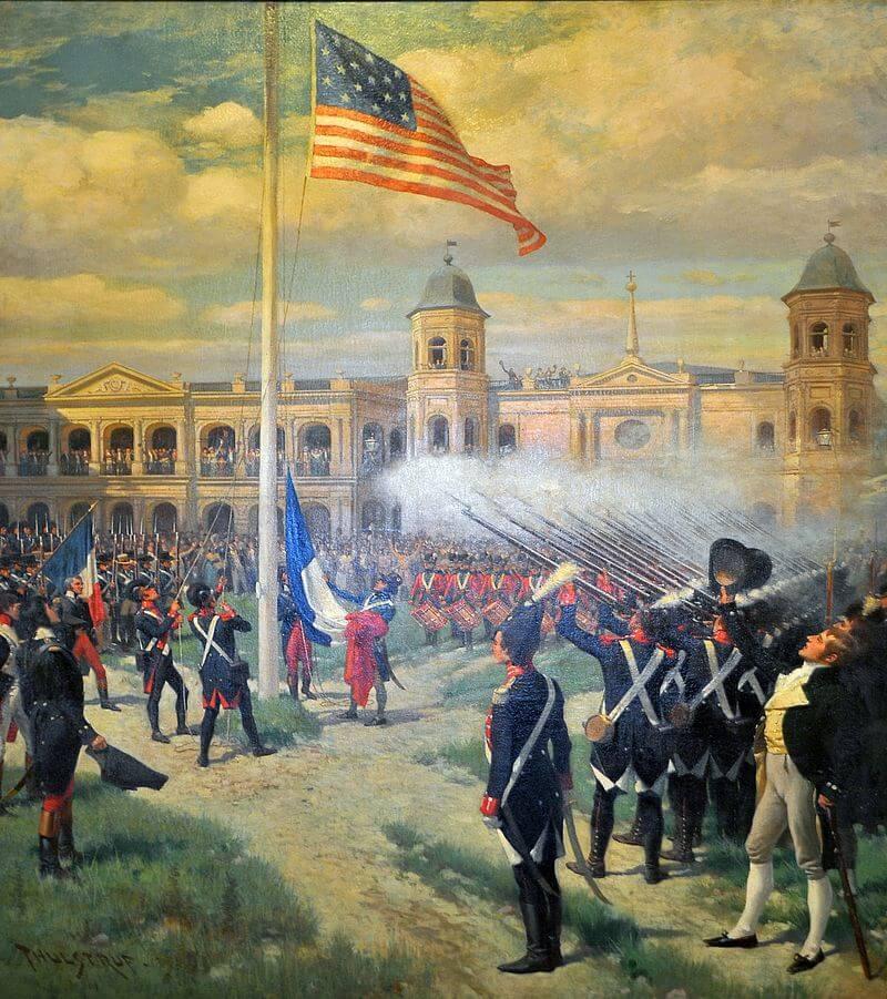 Церемония передачи Луизианы из Франции в США