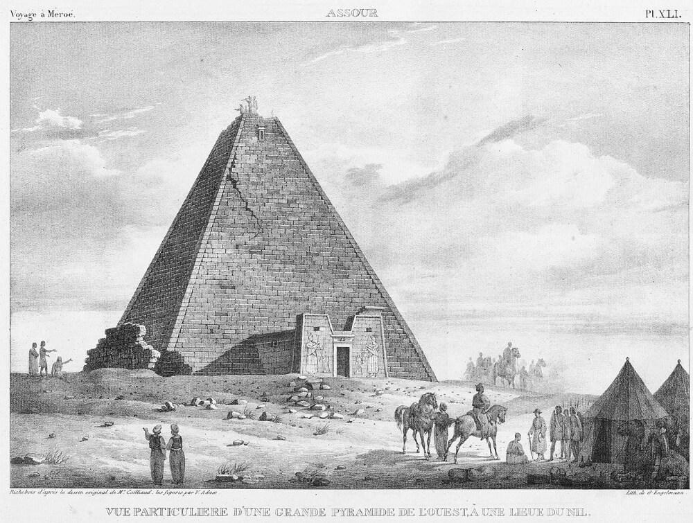 Великая пирамида N6 из пирамид Мероэ до