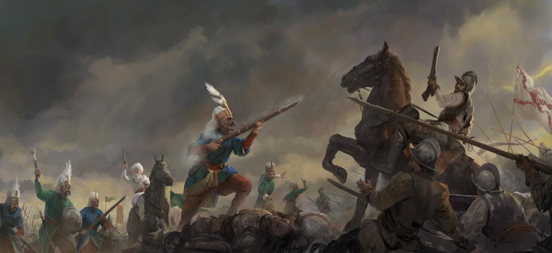 Янычары на поле битвы / © Joeri Lefévre / joeri.artstation.com