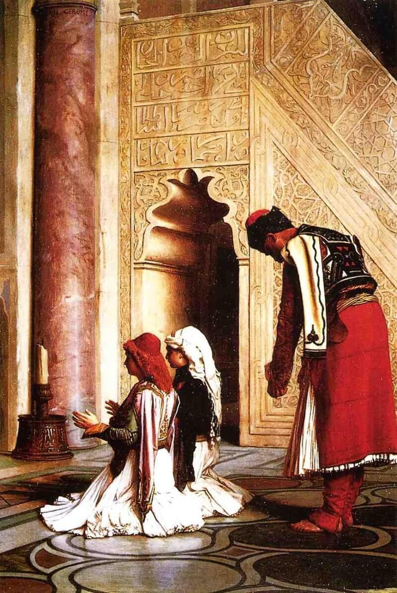 Жан-Леон Жером «Греческие мусульмане на молитве в мечети»