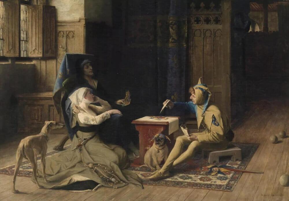 Альбрехт де Вриндт «Карл и Одетта играют в шахматы с шутом»