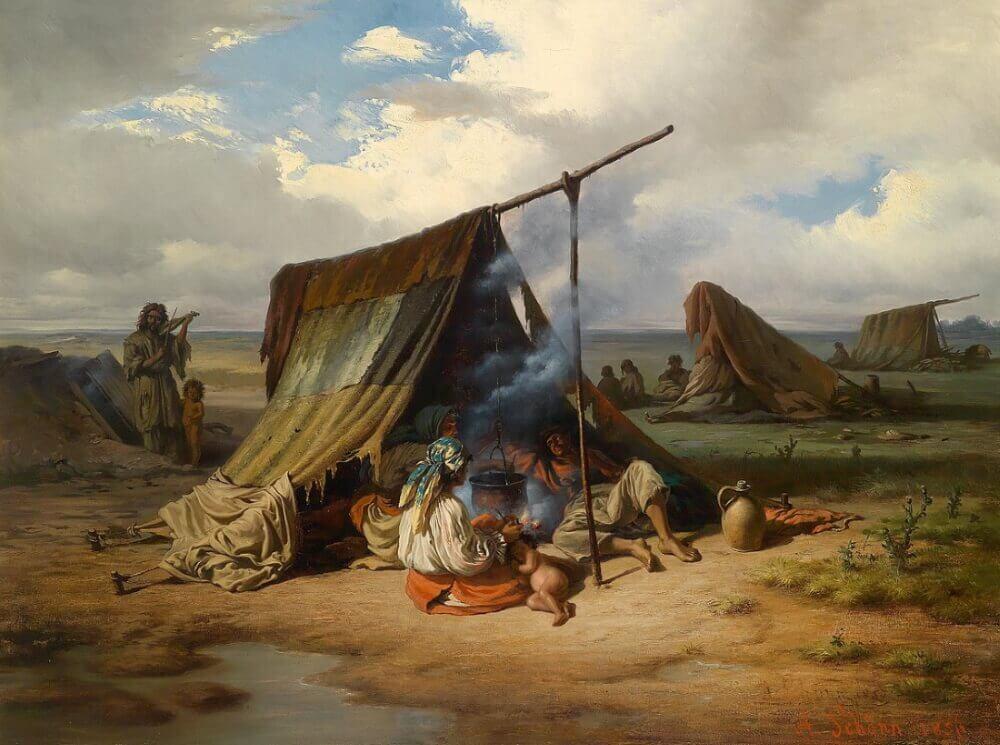 Алоис Шенн «Лагерь цыган»