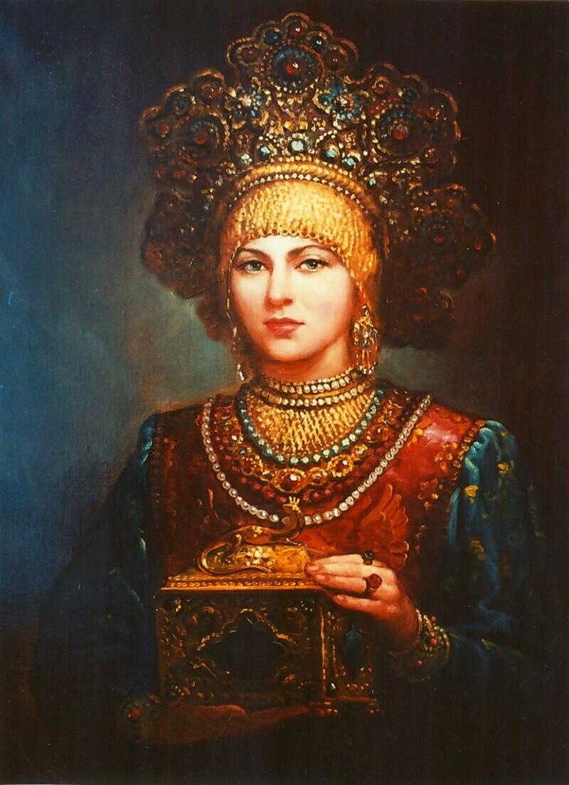 Андрей Шишкин «Ларец», не является портретом Агафьи Грушецкой