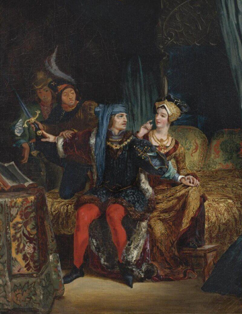 Эжен Делакруа «Карл VI и Одетта де Шамдивер»