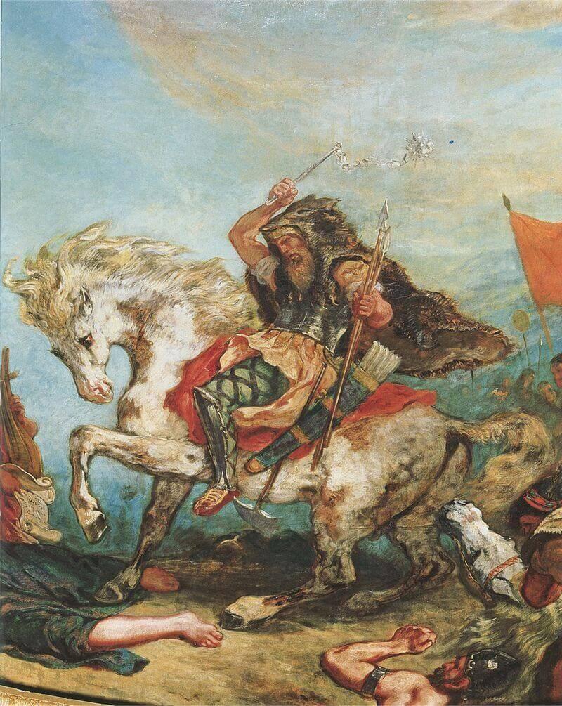 Фрагмент фрески Делакруа «Аттила»