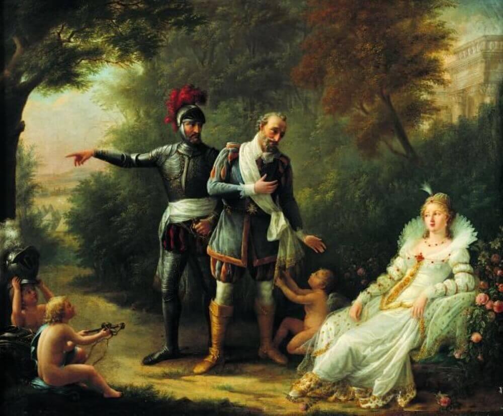 Генрих IV, король Франции и Габриэль д'Эстре