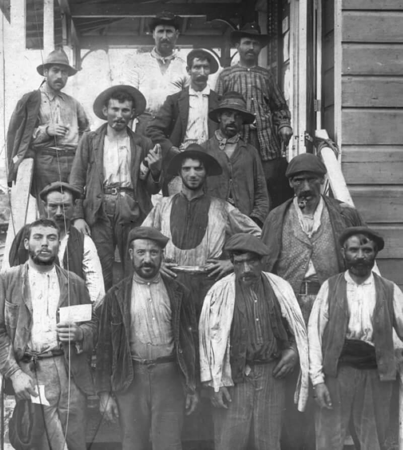 Испанские рабочие — строители канала, начало 1900-х