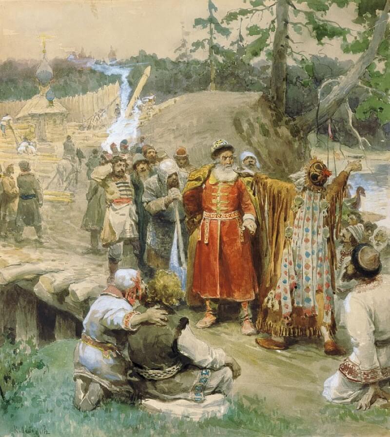 Клавдий Лебедев «Освоение русскими новых земель»