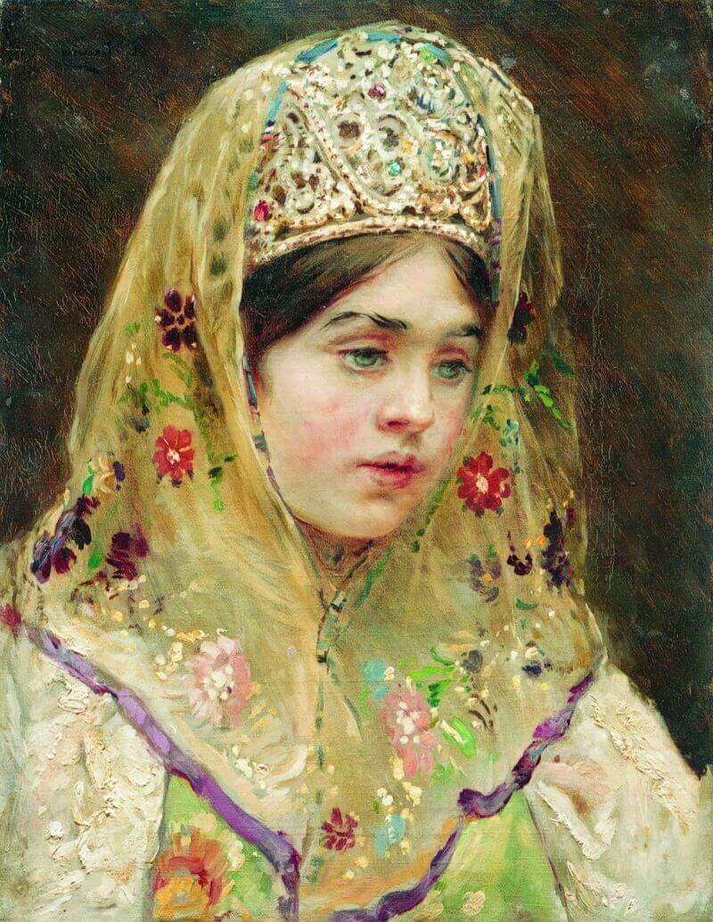 Константин Маковский «Русская красавица», не является портретом Агафьи Грушецкой