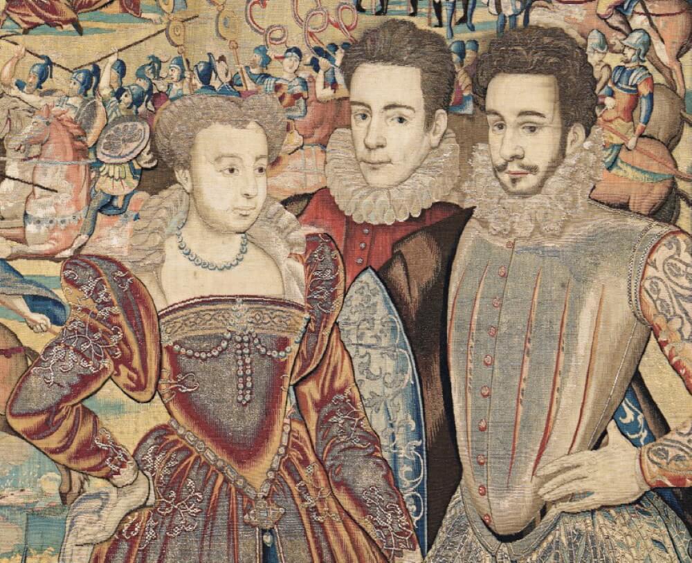 Маргарита де Валуа с братом Франсуа (справа)