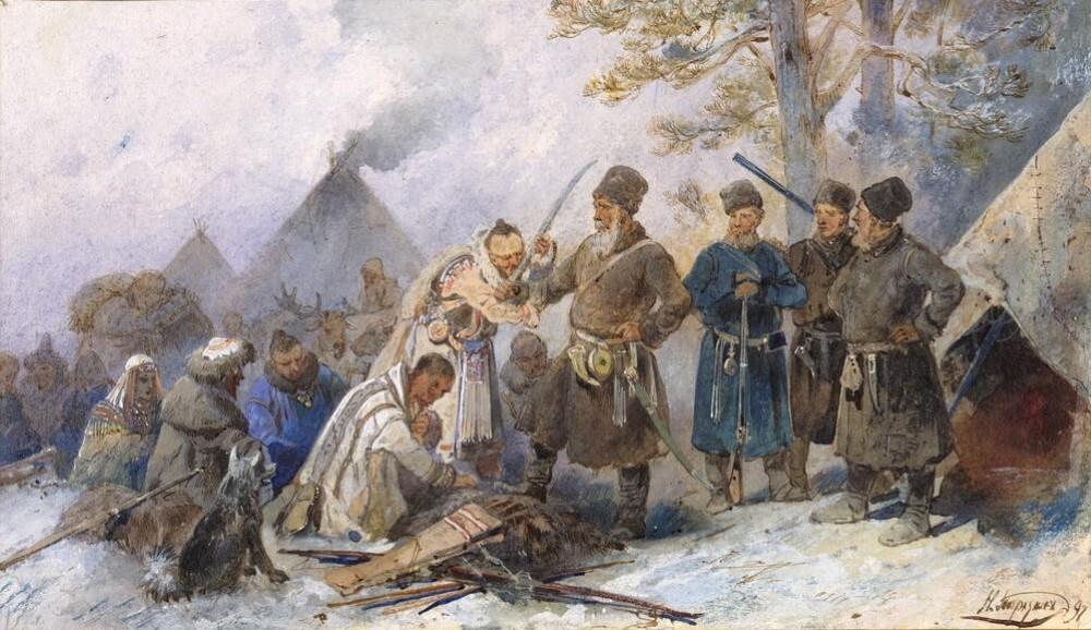 Николай Каразин «Подведение сибирских инородцев под высокую Царскую руку»