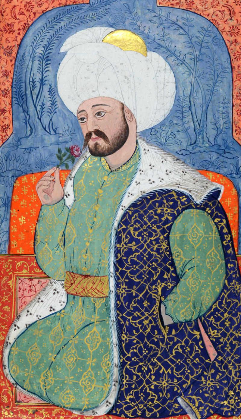 Османская миниатюра с изображением Мехмеда I, султана Османской империи