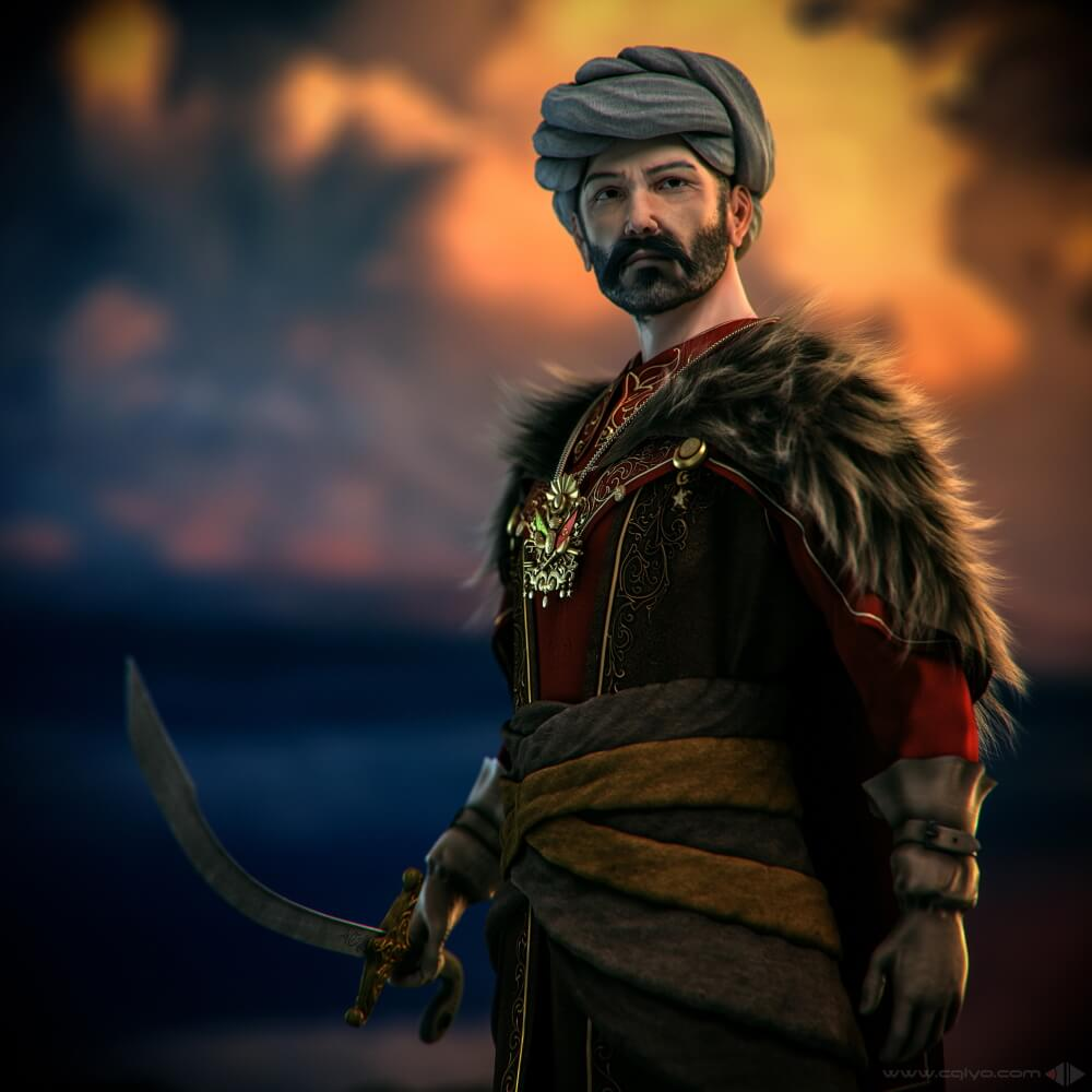 Османский лидер / © Yamen Alkhatib / yamen3d.artstation.com