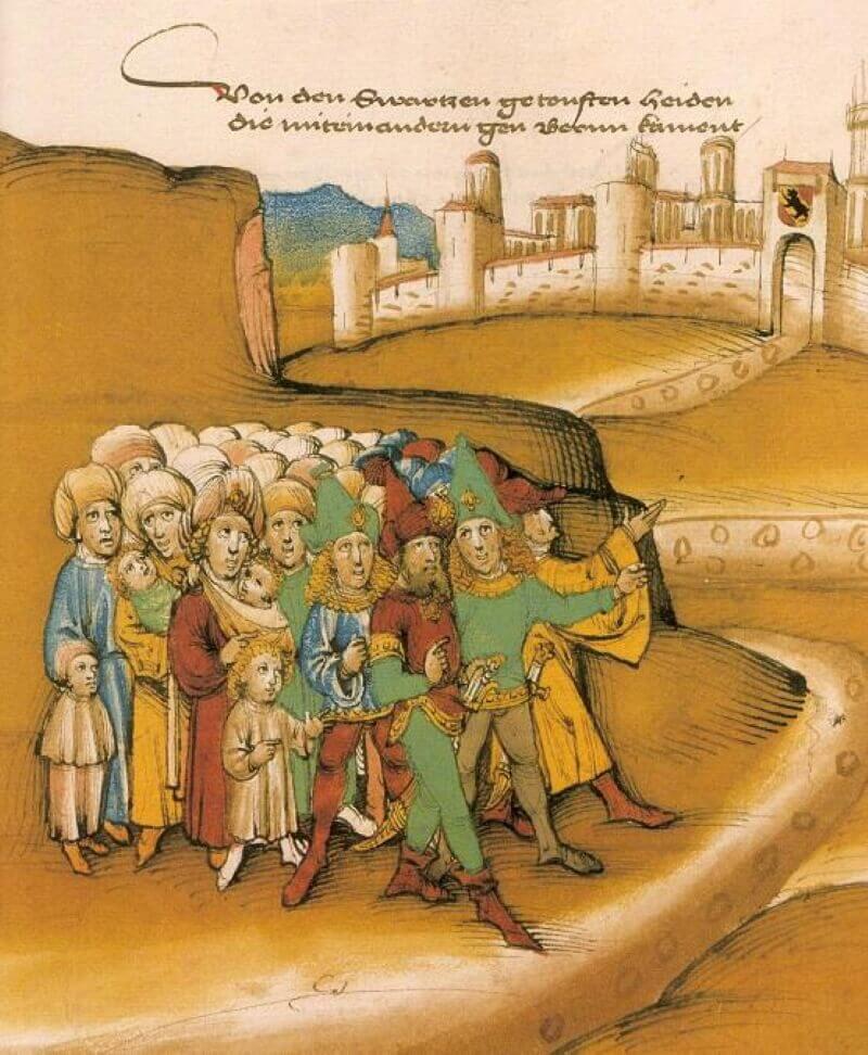 Первое прибытие цыган за пределами Берна в XV веке
