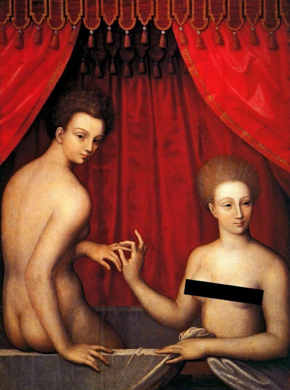 Портрет Габриэль д Эстре с сестрой
