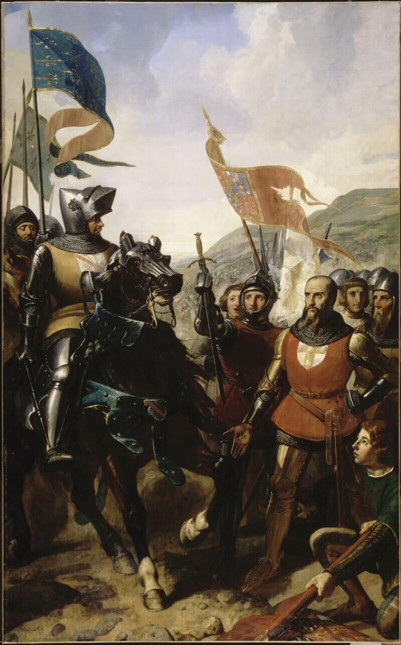 Шарль-Филипп-Огюст Ларивьер «Дю Геклен в битве при Кошерель»