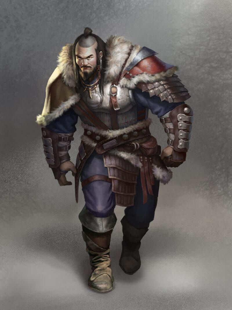 Сюннский воин / David Vijay / davidway.artstation.com