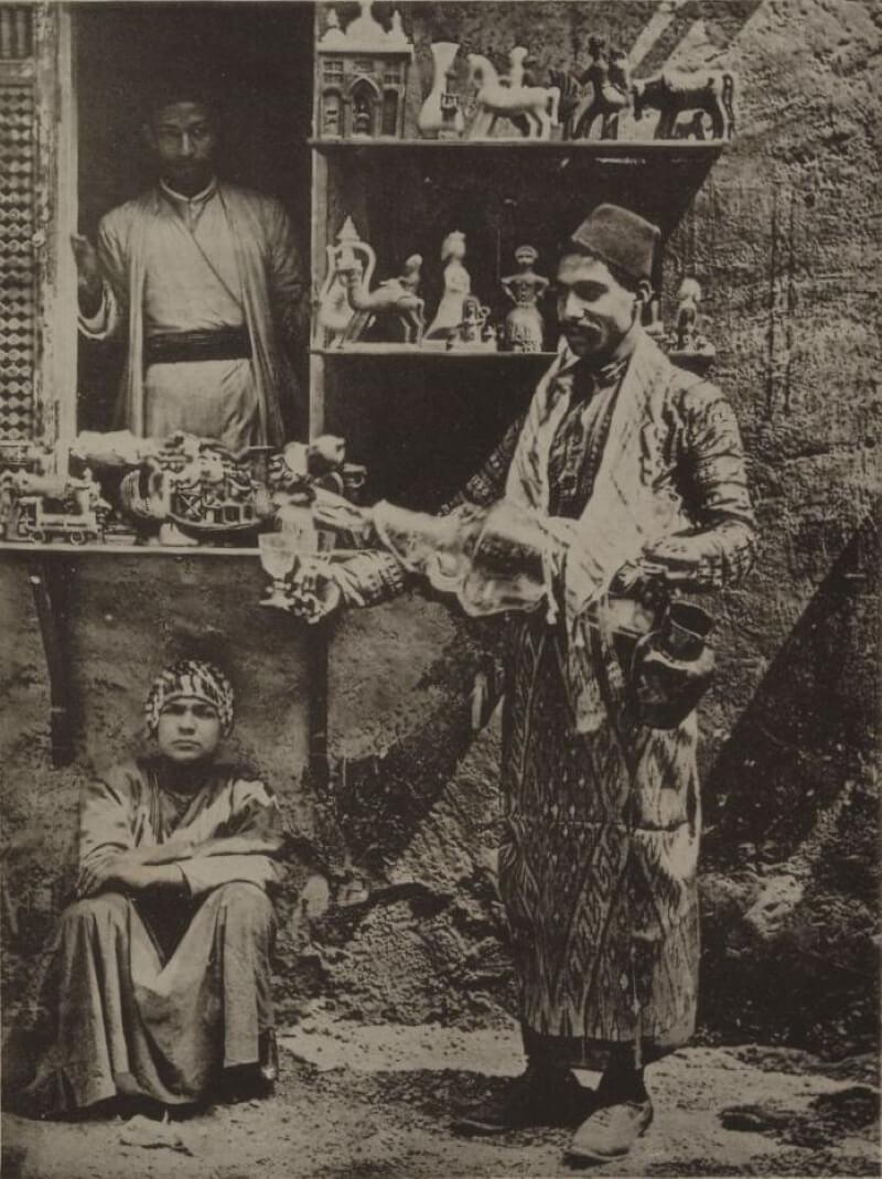 Торговая лавка в Египте, 1889 год