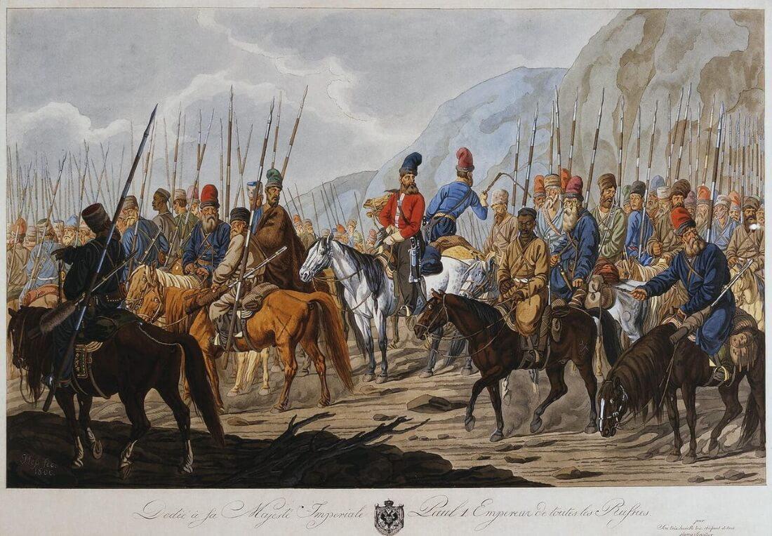Яицкие казаки в походе