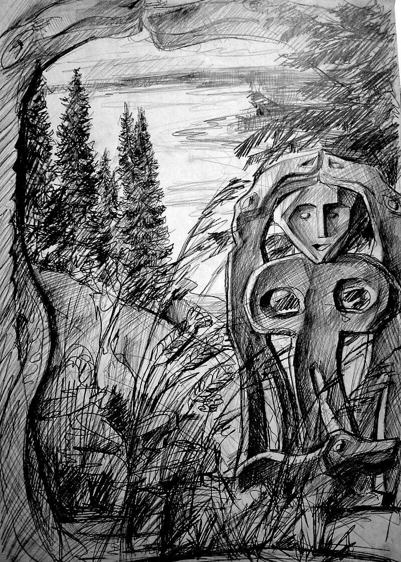 «Чуди» (из серии графики художника-краеведа А. Г. Вороны),