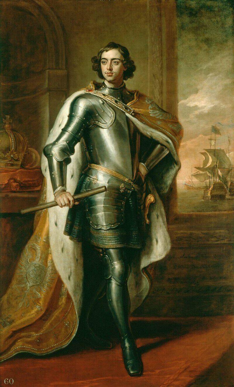 Готфрид Кнеллер «26-летний Пётр I» Портрет был подарен Петром в 1698 английскому королю