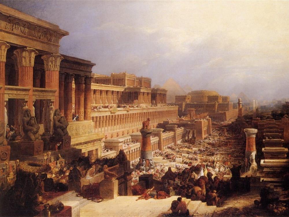 Дэвид Робертс «Евреи покидают Египет»