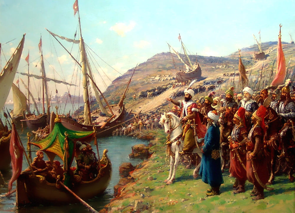 Фаусто Зонаро «Мехмед II наблюдает за перевозкой своих судов по суше»