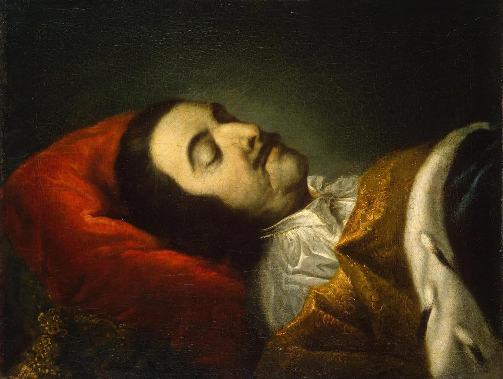 Иоганн Готфрид Таннауер (придворный художник) «Портрет Петра I на смертном одре»