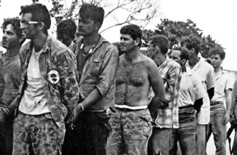 Плененные члены «Бригады 2506» на Кубе