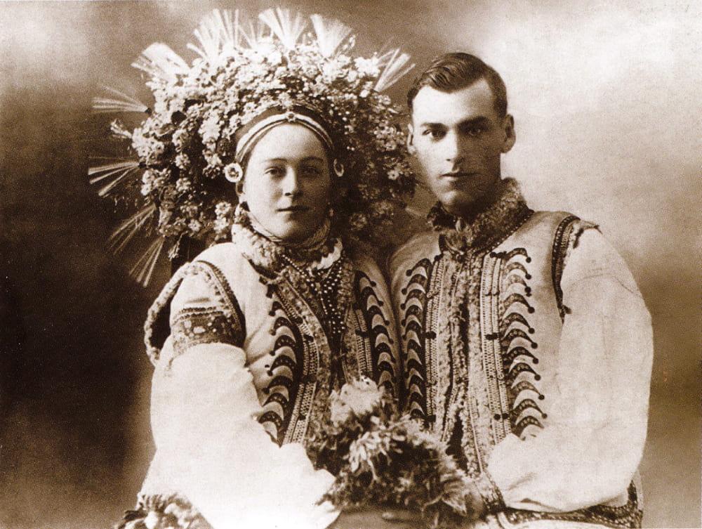 Свадебная пара. Село Космач Ивано-Франковской обл. 1920 год