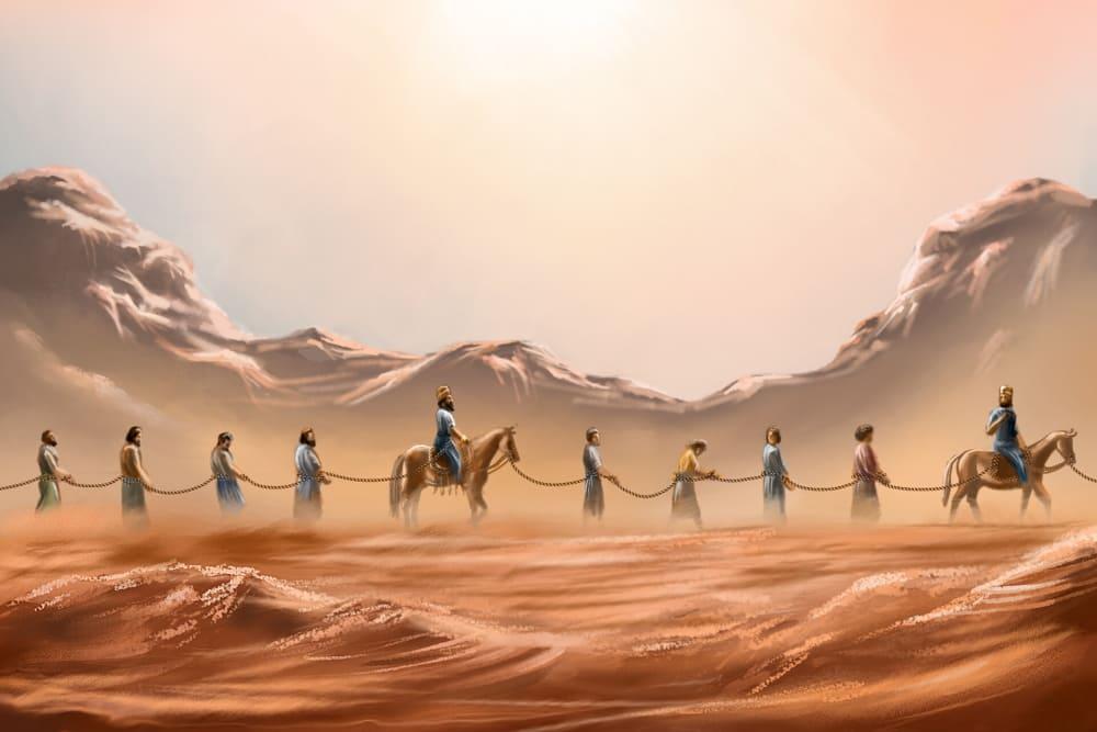 Иудеи после падения Иерусалима попали в руки вавилонян / © Caleb Jasper Lumingkit / caleb_jsper.artstation.com